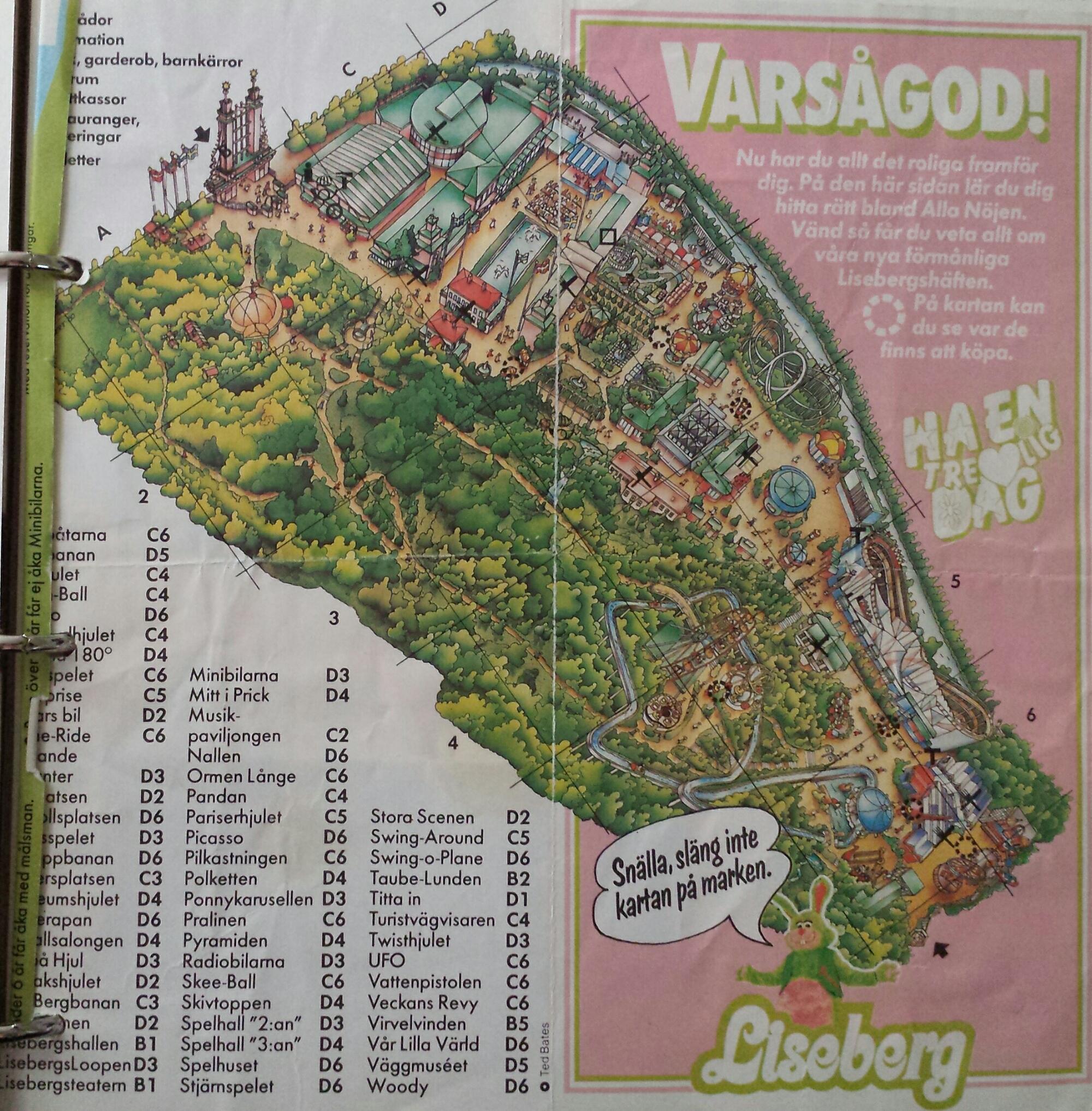 karta över göteborg liseberg Liseberg tidigt 1980 tal   Arbora Vitae karta över göteborg liseberg