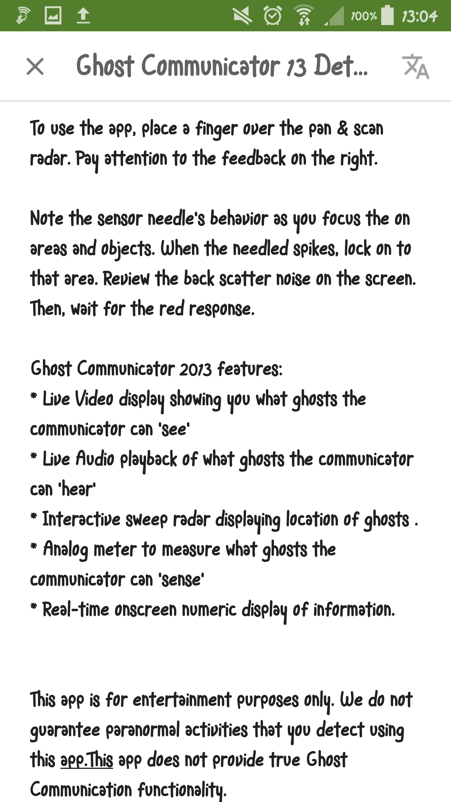 App: Ghost Communicator 2013 | Arbora Vitae